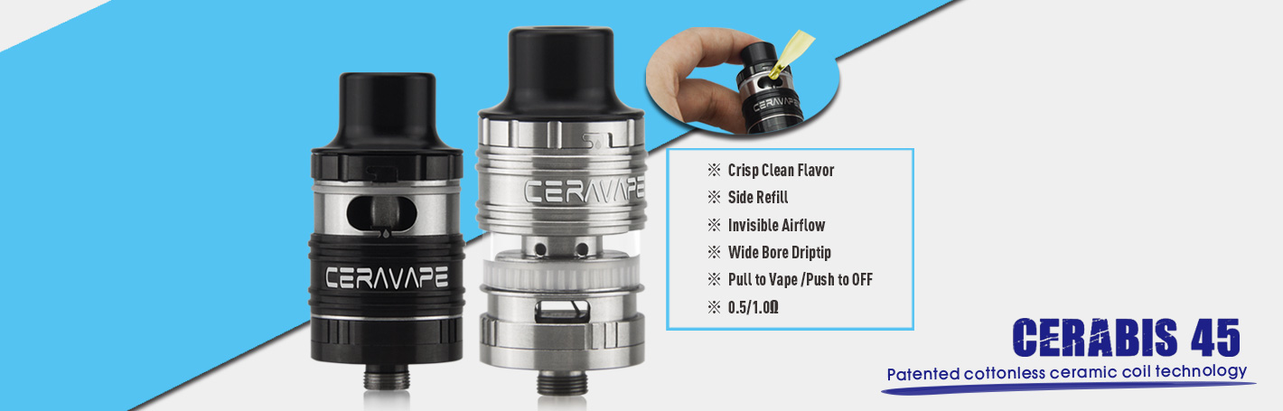 Cerabis 45 Tank ceramic coil Side Filling
